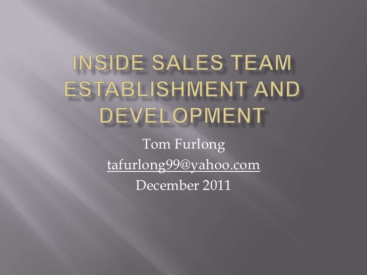 Tom Furlongtafurlong99@yahoo.com     December 2011
