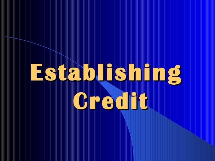 Establishing  Credit