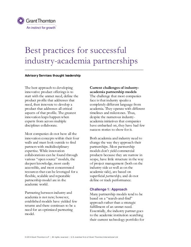 © 2014 Grant Thornton LLP | All rights reserved | U.S. member firm of Grant Thornton International Ltd Best practices for ...