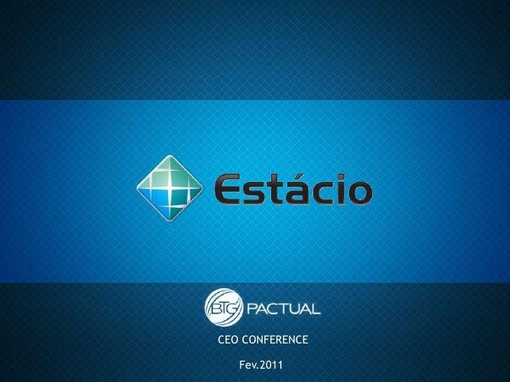 Estácio: Apresentação Conferência Banco BTG Pactual