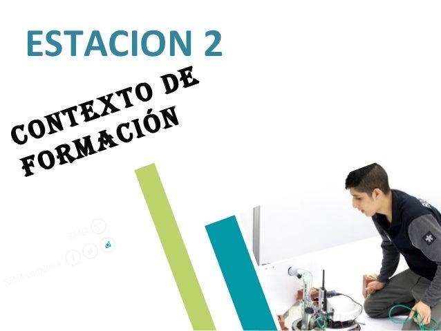 ESTACION 2 Contexto de formaCión