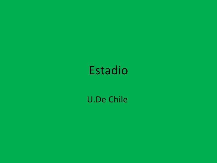 Estadio U.De Chile