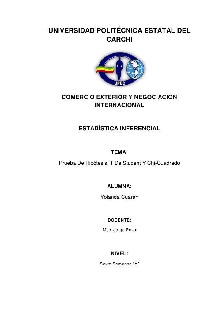 UNIVERSIDAD POLITÉCNICA ESTATAL DEL              CARCHI   COMERCIO EXTERIOR Y NEGOCIACIÓN           INTERNACIONAL         ...