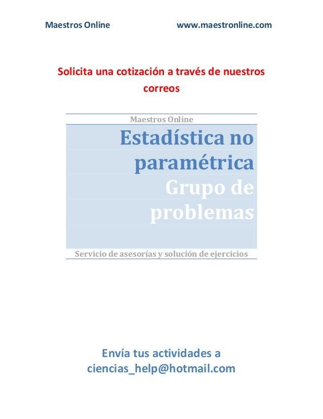 estadistica parametricas: