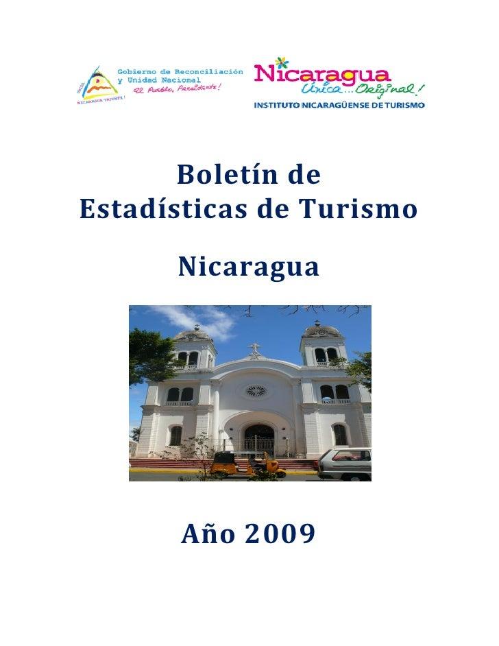 Boletín deEstadísticas de Turismo      Nicaragua      Año 2009