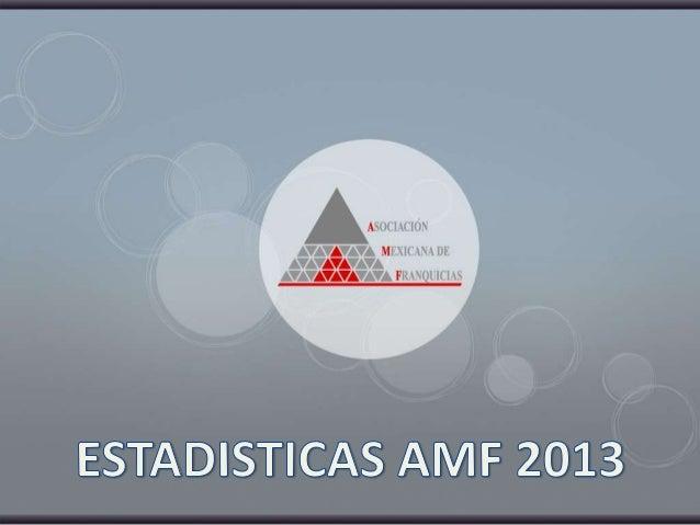 Estadísticas AMF 2013
