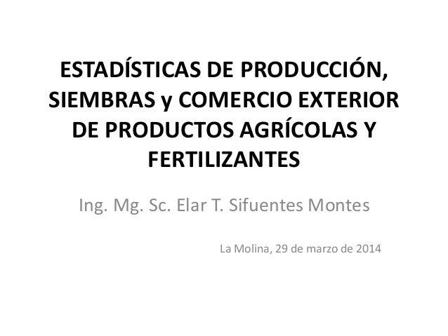 Estadisticas de importacion de  fertilizantes