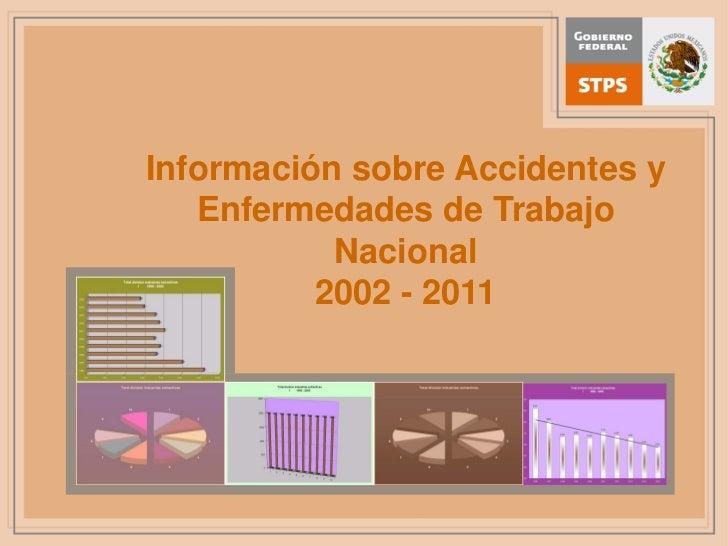 Estadisticas de la siniestralidad laboaral en mexico nacional 2002 2011