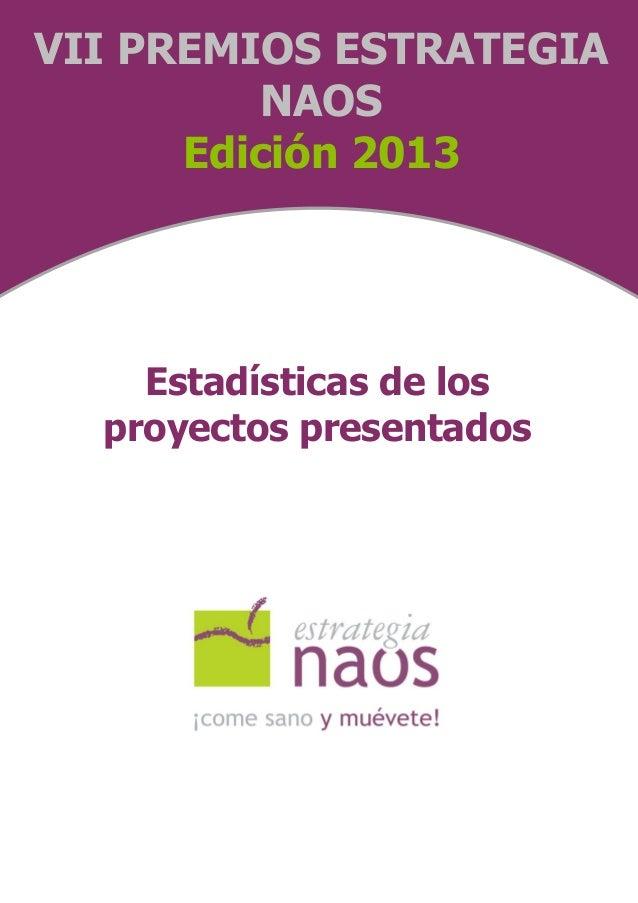 Estadísticas Premios NAOS 2013