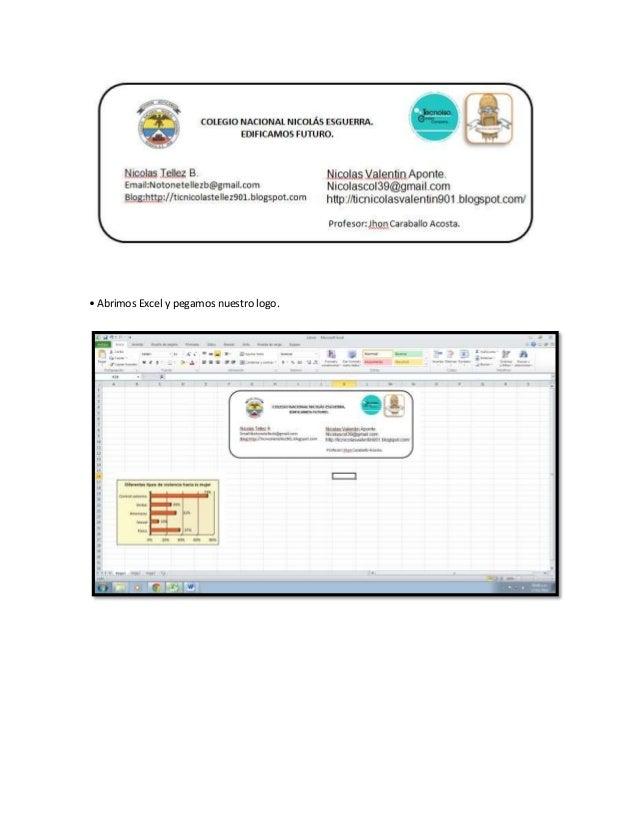 • Abrimos Excel y pegamos nuestro logo.