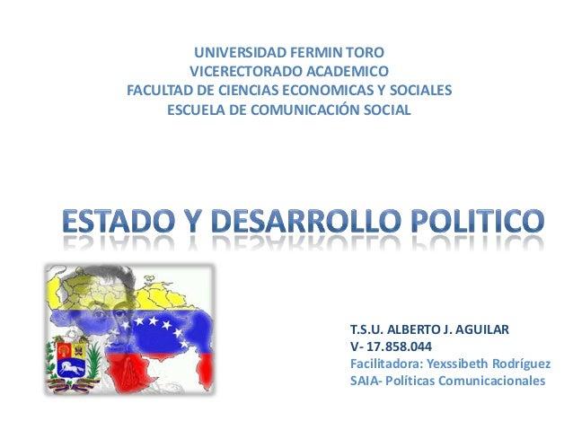 UNIVERSIDAD FERMIN TORO VICERECTORADO ACADEMICO FACULTAD DE CIENCIAS ECONOMICAS Y SOCIALES ESCUELA DE COMUNICACIÓN SOCIAL ...