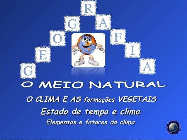 Estado tempo-clima e elementos - fatores climáticos 7º ano  12-13