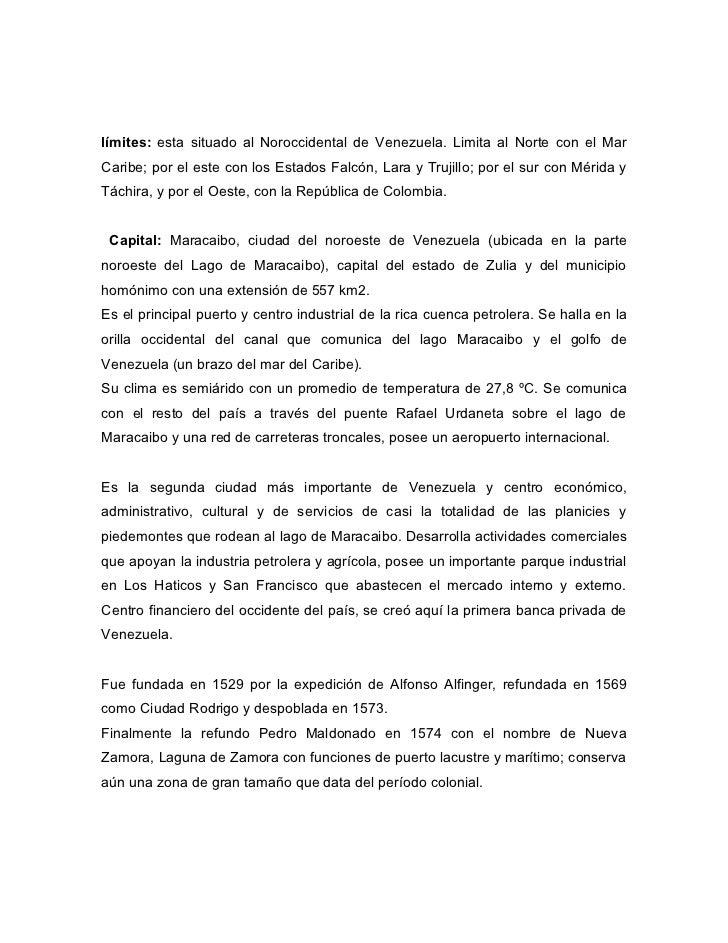 límites: esta situado al Noroccidental de Venezuela. Limita al Norte con el MarCaribe; por el este con los Estados Falcón,...