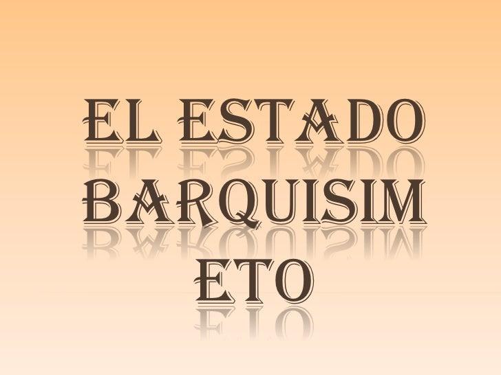 Estado de barquisimeto