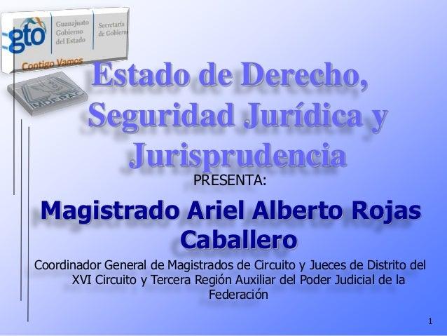 ESTADO DERECHO SEGURIDAD JURIDICA