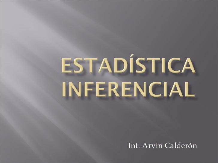 Int. Arvin Calderón