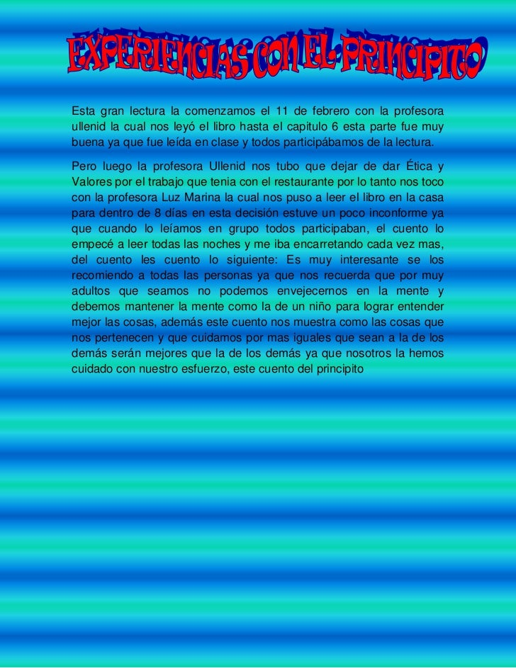 Esta gran lectura la comenzamos el 11 de febrero con la profesora ullenid la cual nos leyó el libro hasta el capitulo 6 es...