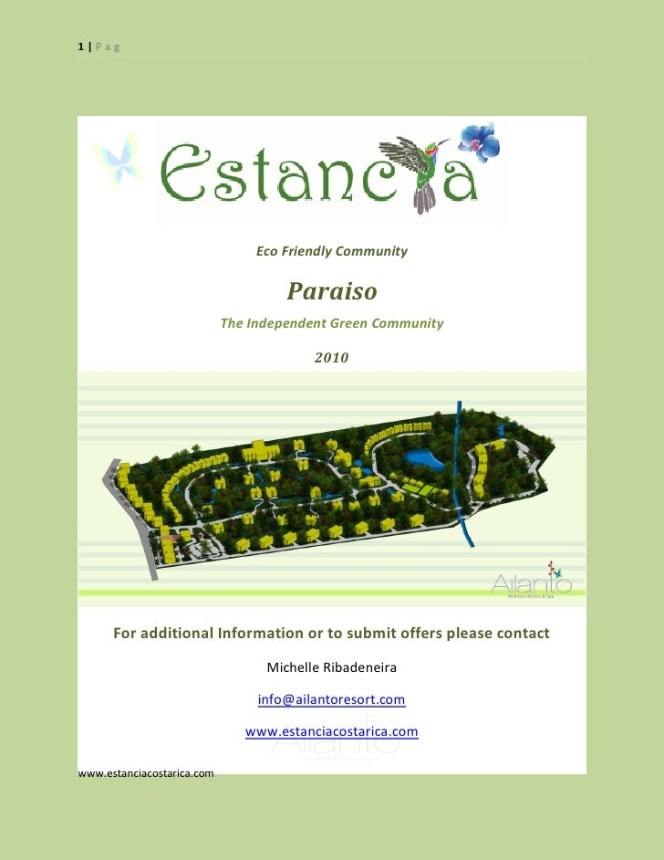 1|Pag                                     Eco Friendly Community                                       Paraiso            ...