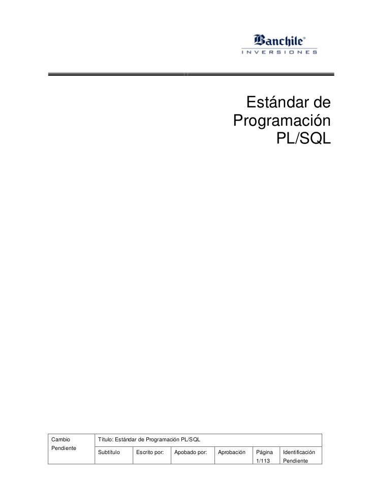 Estándar de                                                             Programación                                      ...