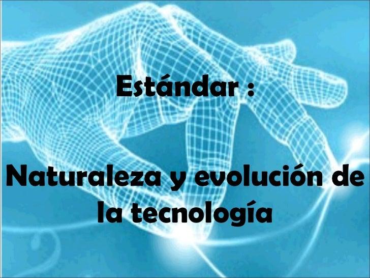 Estándar :Naturaleza y evolución de      la tecnología