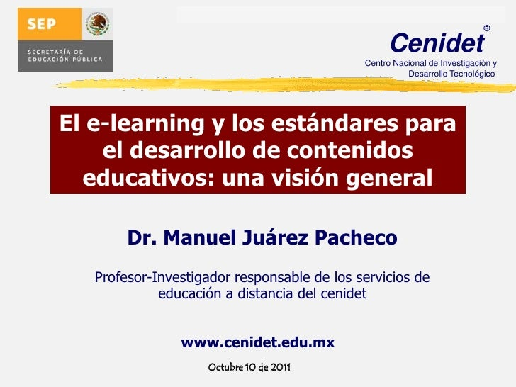 Estandares e-learning