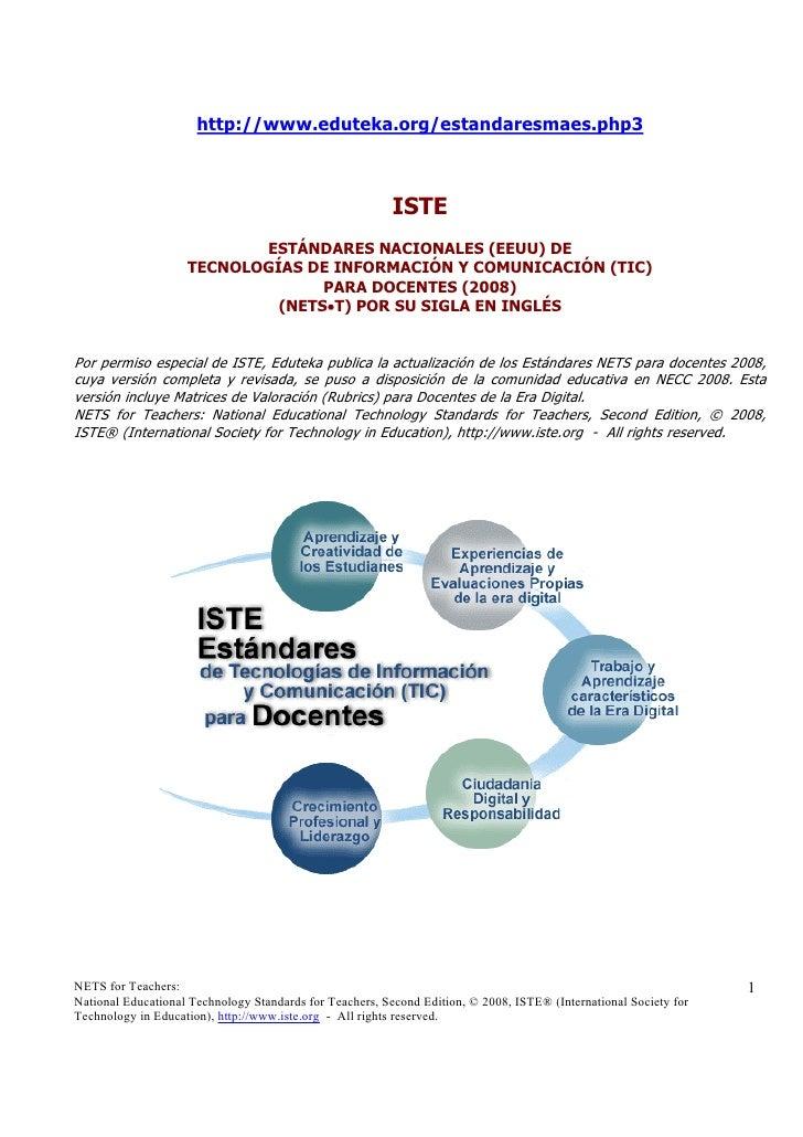 Estandares Nets Docentes2008[1]