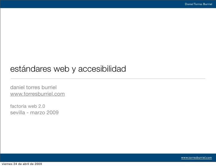 Estandares Web Sevilla 2009