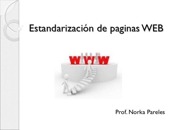 Estandarización de paginas web