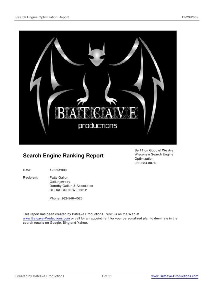 Estate Jewelry Seo Ranking Report