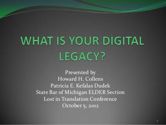 Presented by         Howard H. Collens      Patricia E. Kefalas DudekState Bar of Michigan ELDER Section   Lost in Transla...