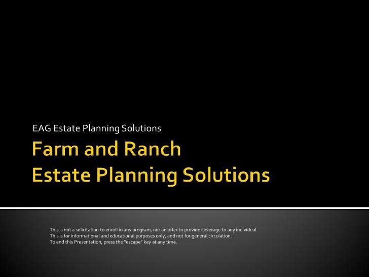 Estate  Planning for Farm  &  Ranch