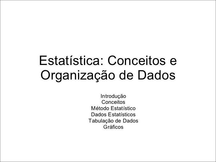 Estatistica conceitos