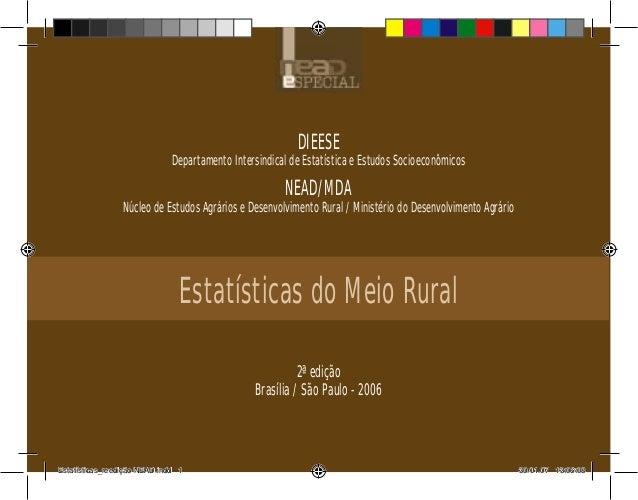 DIEESEDepartamento Intersindical de Estatística e Estudos SocioeconômicosNEAD/MDANúcleo de Estudos Agrários e Desenvolvime...