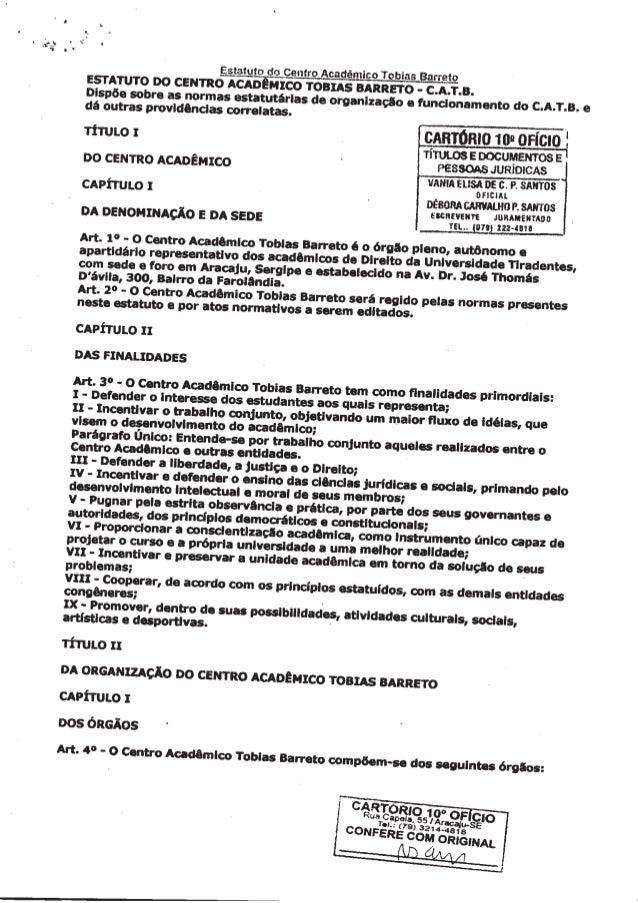 Estatuto do Centro Acadêmico Tobias Barreto