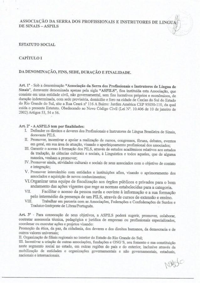Estatuto Social - ASPILS