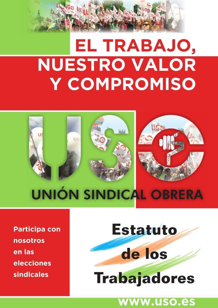 ESTATUTO DE LOS TRABAJADORES                               RDL 1/1995 de 24 de marzo                             (BOE de 2...