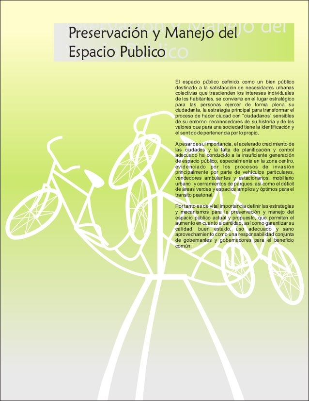 Estatuto para el control del espacio publico