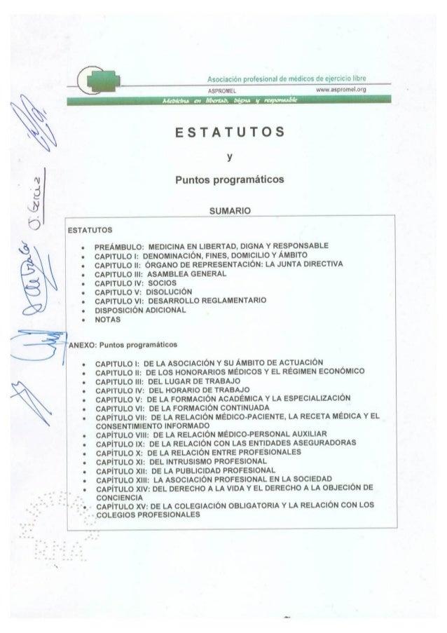 Estatutos aspromel 2012