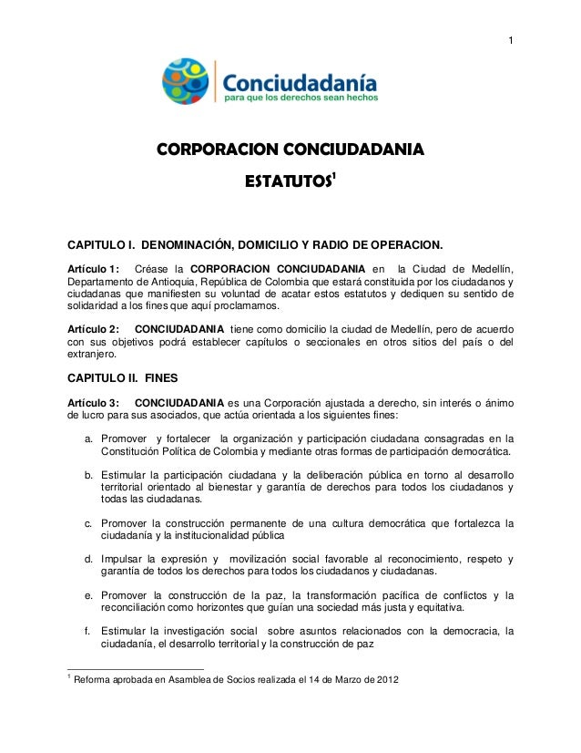 Estatutos conciudadania