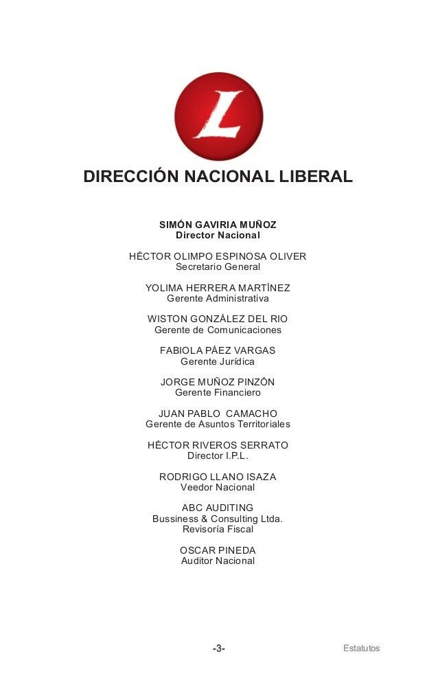 Estatutos Partido Liberal