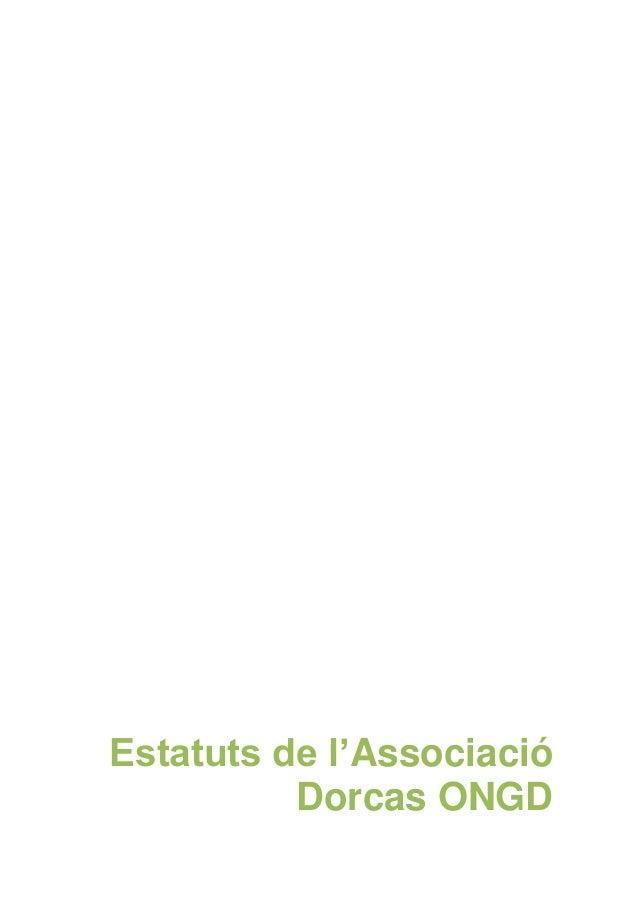 Estatuts de l'Associació Dorcas ONGD