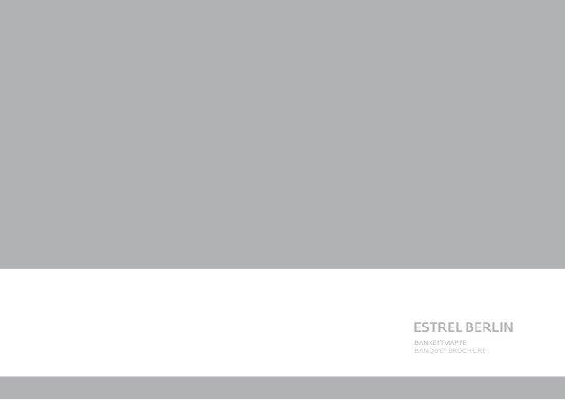 ESTREL BERLIN BANKETTMAPPE BANQUET brochure