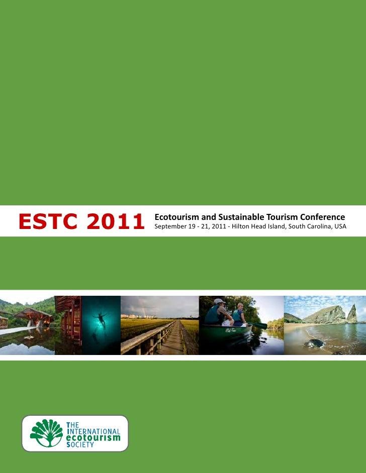 Ecotourism and Suatainable Tourism Conference 2011 Program - Web Version