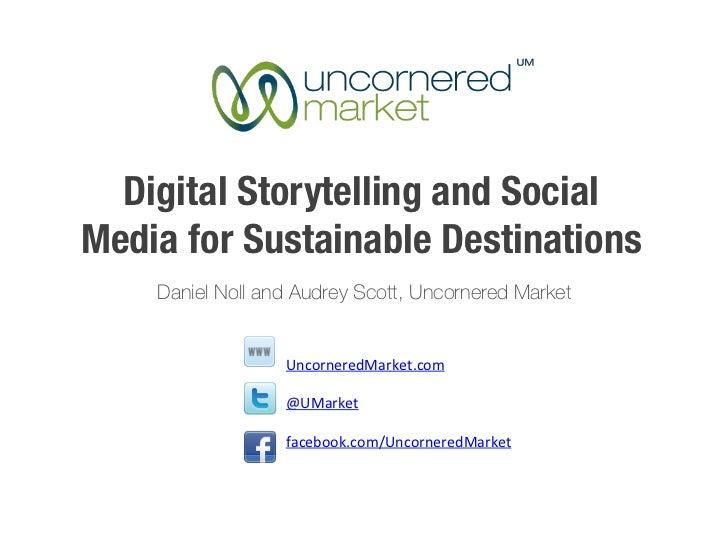ESTC Destination Workshop: Digital Storytelling and Social Media for Sustainable Destinations