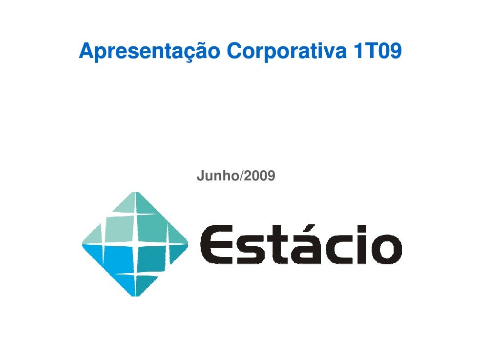 Apresentação Corporativa 1T09               Junho/2009