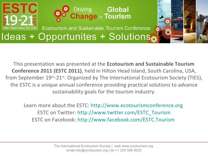 ESTC 2011 Presentation by Masaru Takayama, Spirit of Japan Travel, Community Projects
