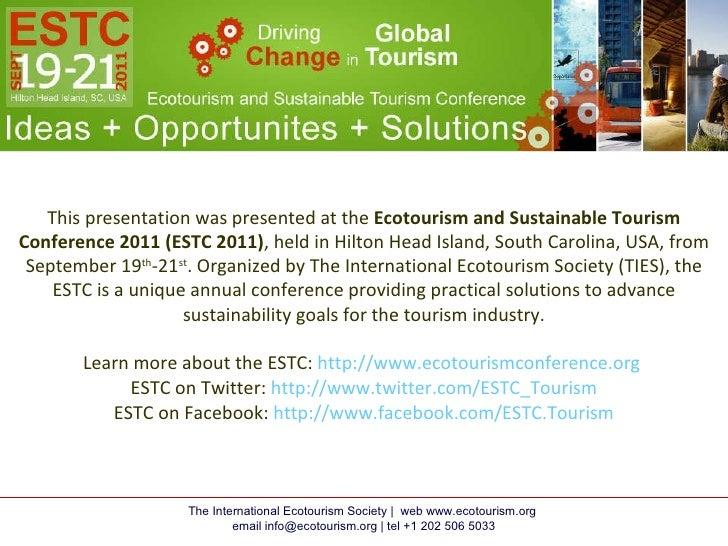 ESTC 2011 Presentation by Pauline MacLeod Farley, Hope Island Light House Project