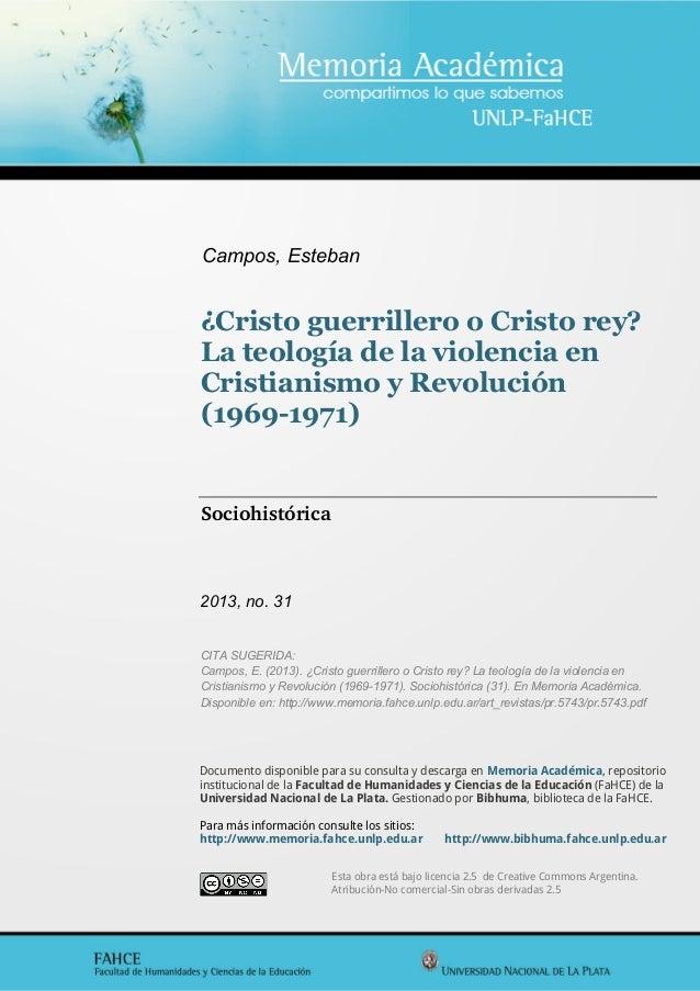 Esta obra está bajo licencia 2.5 de Creative Commons Argentina. Atribución-No comercial-Sin obras derivadas 2.5 Documento ...