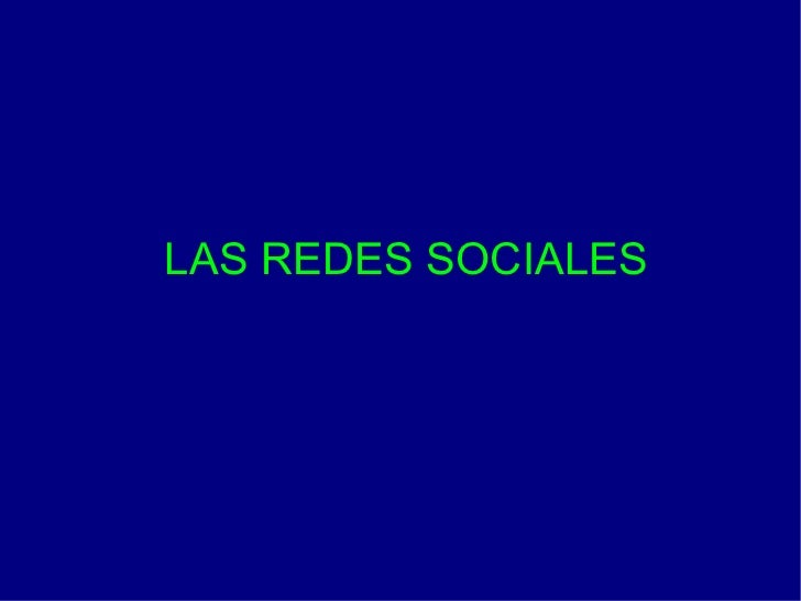 LAS REDES SOCIALES