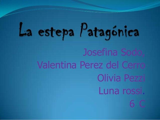 Josefina Sodo,Valentina Perez del CerroOlivia PezziLuna rossi.6 C